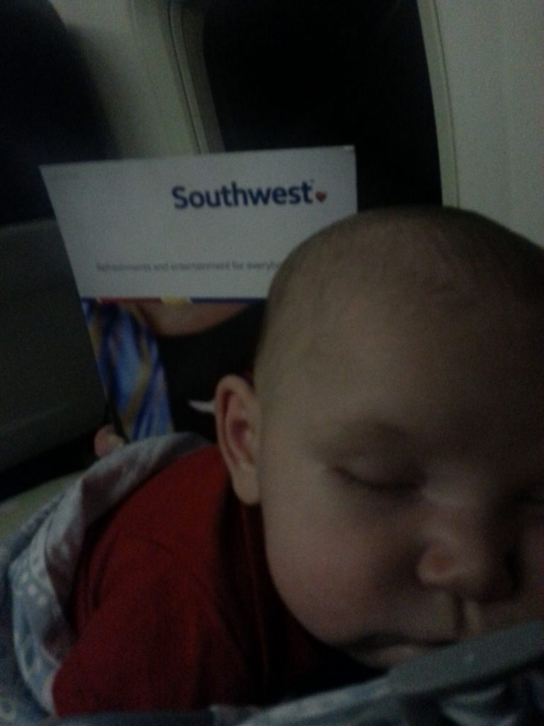baby's first flight picture