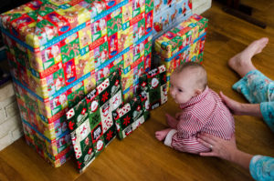 checking out presents picture