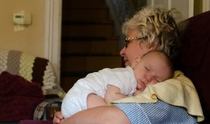 sleepin on grandma picture