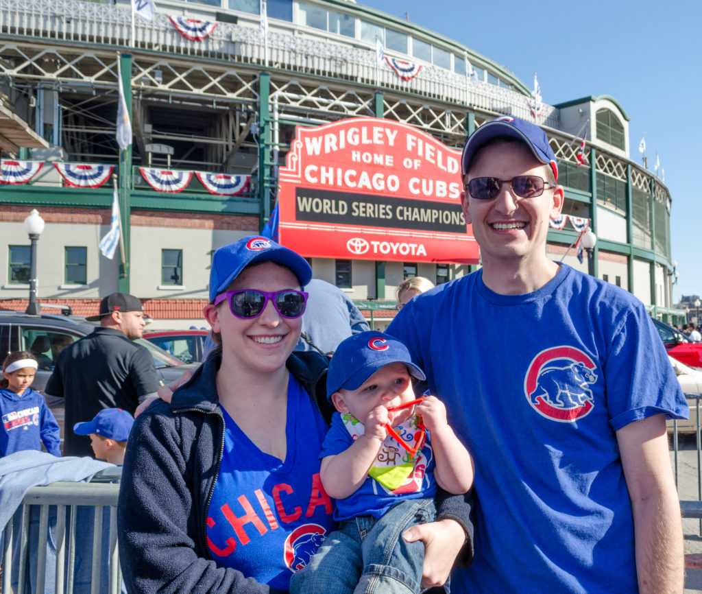 family at wrigley