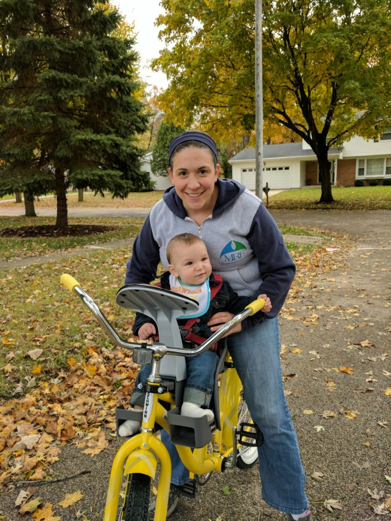 first bike ride with momma